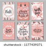 set of christmas greeting cards ...   Shutterstock .eps vector #1177439371