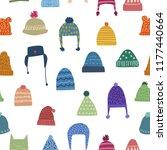 winter theme seamless pattern... | Shutterstock .eps vector #1177440664