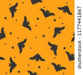 seamless halloween pattern with ... | Shutterstock .eps vector #1177441867