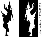 an image shadow of tos sa kan ... | Shutterstock .eps vector #1177442251