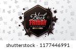 black friday sale banner layout ... | Shutterstock .eps vector #1177446991