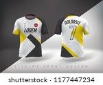 soccer t shirt design slim... | Shutterstock .eps vector #1177447234