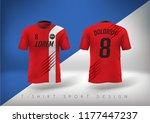 soccer t shirt design slim... | Shutterstock .eps vector #1177447237