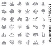 nature icons. gray flat design. ... | Shutterstock .eps vector #1177453021