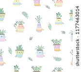 vector seamless pattern with... | Shutterstock .eps vector #1177463014