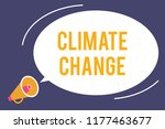 word writing text climate... | Shutterstock . vector #1177463677