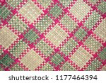 Hand Woven Mat With Graphic...
