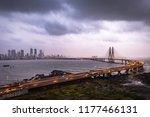 birds eye view of sea link... | Shutterstock . vector #1177466131