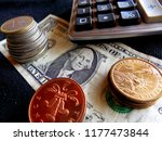 money. calculator. coins. us... | Shutterstock . vector #1177473844