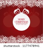 merry christmas and new year... | Shutterstock .eps vector #1177478941