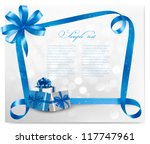 holiday background with blue... | Shutterstock .eps vector #117747961