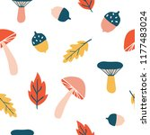 seamless pattern with cute... | Shutterstock .eps vector #1177483024
