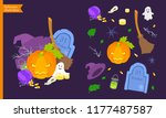 halloween elements icon... | Shutterstock .eps vector #1177487587