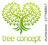 tree icon concept of a stylised ... | Shutterstock . vector #1177488817