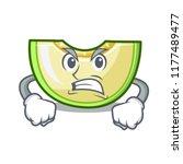 angry cartoon sweet melon slice ... | Shutterstock .eps vector #1177489477
