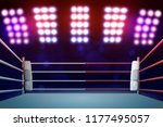 boxing ring with illumination...   Shutterstock . vector #1177495057