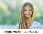 Beautiful Smiling Teenage Girl...