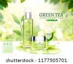 green tea skincare ads with... | Shutterstock .eps vector #1177505701