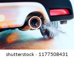 stainless steel exhaust pipes... | Shutterstock . vector #1177508431