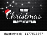 merry christmas with a dense...   Shutterstock .eps vector #1177518997