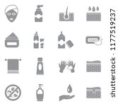 skin care icons. gray flat... | Shutterstock .eps vector #1177519237