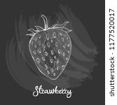 illustration of strawberry on... | Shutterstock .eps vector #1177520017