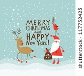 greeting christmas and new year ... | Shutterstock .eps vector #117752425