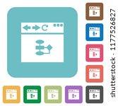 browser flow chart white flat... | Shutterstock .eps vector #1177526827