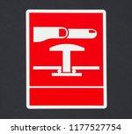 emergency stop push button sign ... | Shutterstock . vector #1177527754