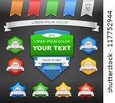 vector illustration of labels... | Shutterstock .eps vector #117752944