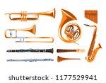 Musical Wind Instruments Set ...