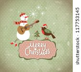 Vintage Greeting Christmas Card