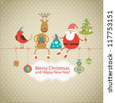 greeting card  christmas card... | Shutterstock .eps vector #117753151