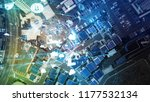 smart city and internet of... | Shutterstock . vector #1177532134