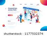 finance analysts. concept of... | Shutterstock . vector #1177532374