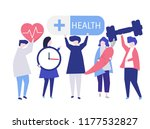 character of people with health ... | Shutterstock .eps vector #1177532827