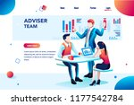 analyst  financial banner.... | Shutterstock . vector #1177542784
