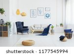 real photo of a living room... | Shutterstock . vector #1177545994