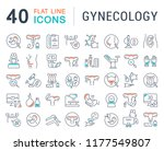 set of vector line icons of... | Shutterstock .eps vector #1177549807