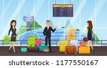 passengers with luggage ... | Shutterstock .eps vector #1177550167