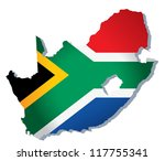south africa vector map | Shutterstock .eps vector #117755341