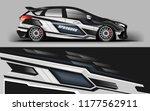 car wrap graphic racing grey...   Shutterstock .eps vector #1177562911