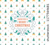 merry christmas and happy new... | Shutterstock .eps vector #1177564681