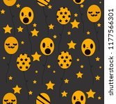 halloween geometric pattern... | Shutterstock .eps vector #1177566301