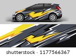 car wrap graphic racing yellow... | Shutterstock .eps vector #1177566367