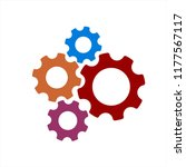 colorful gear illustration  | Shutterstock .eps vector #1177567117