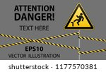 caution  possible fall from... | Shutterstock .eps vector #1177570381
