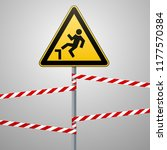 caution  possible fall from... | Shutterstock .eps vector #1177570384