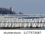 winter attack on the sea shore  ...   Shutterstock . vector #1177573087