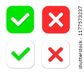 yes or no icons. green check...   Shutterstock .eps vector #1177573237